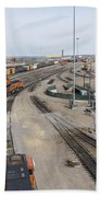 Bnsf Northtown Yard 6 Beach Towel