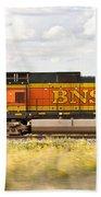 Bnsf Railway Engine Beach Towel