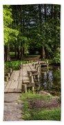 Boardwalk Bridge Maymont Japanese Garden Beach Towel