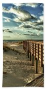 Boardwalk On The Beach Beach Towel