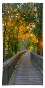 Boardwalk Sunset Beach Towel