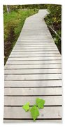 Boardwalk To Backguard Falls In British Columbia Beach Towel