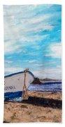 Boat Ashore Beach Towel