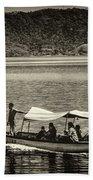 Boat - Lago De Coatepeque, El Salvador Beach Towel