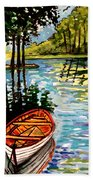 Boat On The Bayou Beach Towel