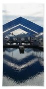 Boat Reflection On Lake Coeur D'alene Beach Towel