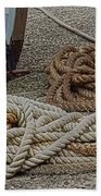 Boat Ropes Beach Towel