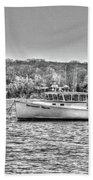 Lobster Boat Mount Sinai Harbor Li.ny Beach Towel