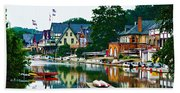 Boathouse Row In Philly Beach Towel