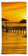 Boathouse Sunset Beach Towel