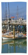 Boats At Fisherman Beach Towel