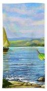 Boats At Lake Victoria Beach Towel