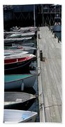 Boats In A Line Beach Towel