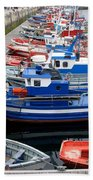 Boats In Norway Beach Towel