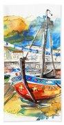 Boats In Tavira In Portugal 02 Beach Towel