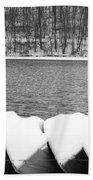 Boats - Lower Twin Lake Bw Beach Towel
