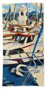 Boats Beach Towel
