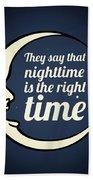 Bob Dylan Song Lyrics Quotes Art Typography Beach Towel