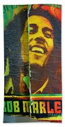Bob Marley Door At Pickles Usvi Beach Towel