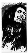 Bob Marley Silhouette   Beach Towel