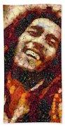 Bob Marley Vegged Out Beach Towel