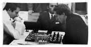 Bobby Fischer (1943-2008) Beach Towel