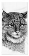 Bobcat Beach Towel