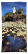 Bob's Cave At Mumbles Lighthouse Beach Towel