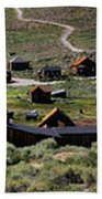 Bodie Ghost Town Panorama Beach Towel