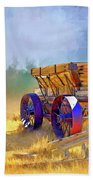 Bodie Ore Wagon Painted Beach Towel