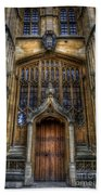 Bodleian Library Door - Oxford Beach Towel by Yhun Suarez