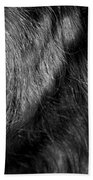 Body Of Hair Beach Towel