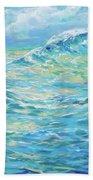 Bodysurfing Rolling Wave Beach Towel