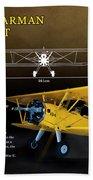 Boeing Stearman N2s Kaydet Beach Towel