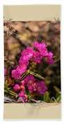 Bog Laurel Flowers Beach Towel