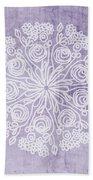 Boho Floral Mandala 1- Art By Linda Woods Beach Towel