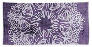 Boho Floral Mandala 2- Art By Linda Woods Beach Sheet