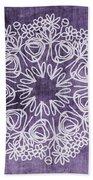 Boho Floral Mandala 2- Art By Linda Woods Beach Towel