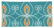 Boho Ornamental 3- Art By Linda Woods Beach Towel
