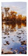 Boise River Autumn Glory Beach Towel