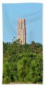 Bok Tower In December Beach Towel