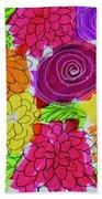 Bold Flowers Beach Towel
