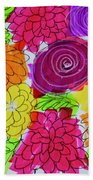Bold Flowers Beach Sheet