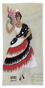 Bolero Costume Beach Towel