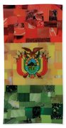 Bolivia Flag Beach Towel