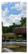 Bollinger Mill And Covered Bridge Beach Towel