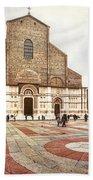 Bologna, Italy San Petronio Basilica Facade Crescentone Beach Towel