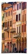 Bologna Window Balcony Texture Colorful Italy Buildings Beach Towel