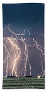 Bolts Over Bushland Beach Towel