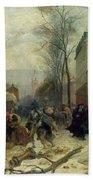 Bombardment Of Paris In 1871 Beach Towel